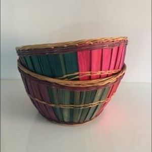 Other - Beautiful Coloured Wooden Baskets